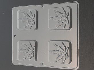 1343 Pot Leaf Bars Chocolate Candy Mold  LAST ONE!