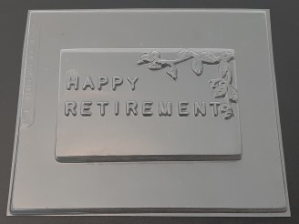 """AO136 Large """"Happy Retirement"""" Bar 8oz Chocolate Candy Mold  LAST ONE!"""