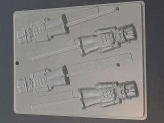 C049 Toy Soldier Chocolate Candy Lollipop Mold  LAST ONE!