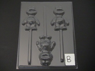 298sp Baby Cracker Monster Chocolate Candy Lollipop Mold FACTORY SECOND