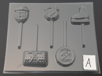 1424 Hockey Theme Chocolate Candy Mold FACTORY SECOND