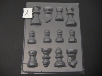 3506 Chess Pieces 3D Chocolate Candy Mold  FACTORY SECOND