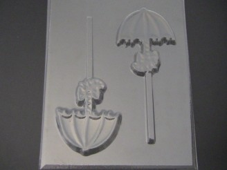 4207 Umbrella with Bow Chocolate Candy Lollipop Mold