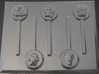 4208 Baby Animals Chocolate candy Lollipop Mold