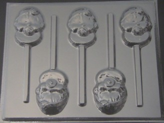 4214 Baby Girl Face Chocolate or Hard Candy Lollipop Mold