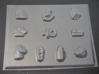 4218 Assorted Baby Items Chocolate Candy Bite Size Mold