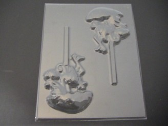 4221 Stork Umbrella Baby Chocolate Candy Lollipop Mold
