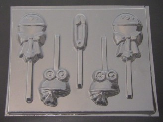 4224 Assorted Baby Chocolate or Hard Candy Lollipop Mold