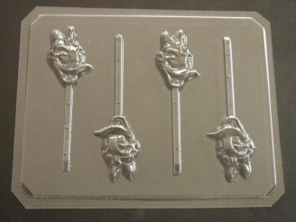 102sp Female Duck Face Chocolate or Hard Candy Lollipop Mold