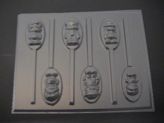 129sp Turnover and Friends Chocolate Candy Lollipop Mold