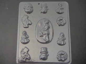 C037 Christmas Assorted Chocolate Candy Mold  LAST ONE!