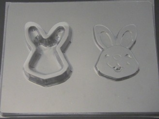 832 Bunny Rabbit Face Pour Box Chocolate Candy Mold