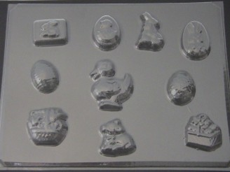833 Easter Assorted Chocolate or Candy Mold