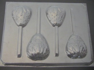 1502 Strawberry Chocolate or Hard Candy Lollipop Mold