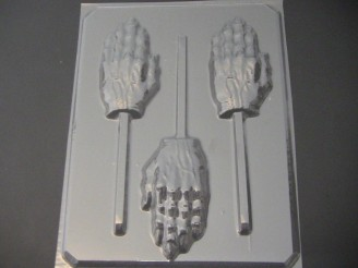 2438 Scary Hand Chocolate or Hard Candy Lollipop Mold