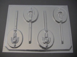 2444 Skeleton on Round Chocolate Candy Mold