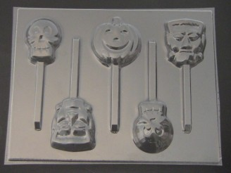 2447 Halloween Chocolate or Hard Candy Lollipop Mold