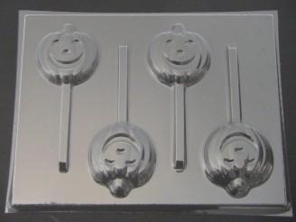 2450 Jack O' Lantern Chocolate or Hard Candy Lollipop Mold