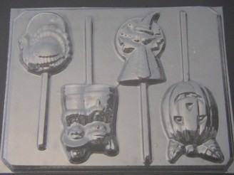 2417 Halloween Thanksgiving Set Chocolate or Hard Candy Lollipop Mold
