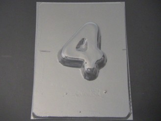 8004 Number 4 Large Chocolate or Hard Candy Mold