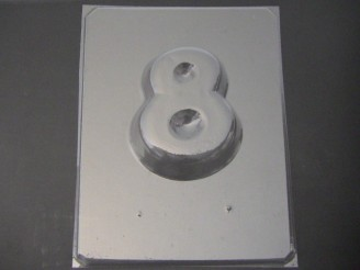 8008 Number 8 Large Chocolate or Hard Candy Mold