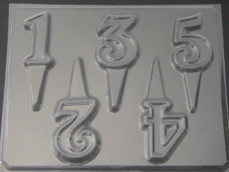 8014 Numbers 1-5 Chocolate Candy Mold