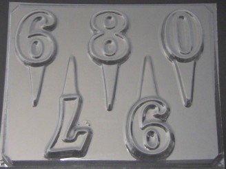 8015 Numbers 6-0 Chocolate Candy Mold