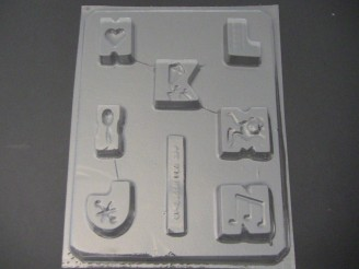 8017 Letters H-N Blocks Chocolate Candy Mold