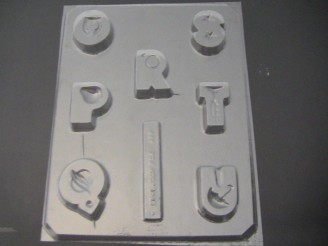 8018 Letters O-U Blocks Chocolate Candy Mold