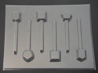 3553 Jewels Chocolate or Hard Candy Lollipop Mold