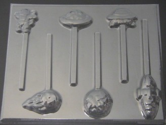 3549 Space Set Chocolate or Hard Candy Lollipop Mold