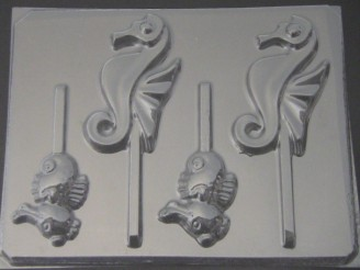 1707 Sea Horse Pair Chocolate Candy Mold