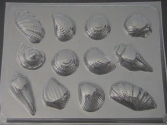 1708 Shells Chocolate Candy Mold