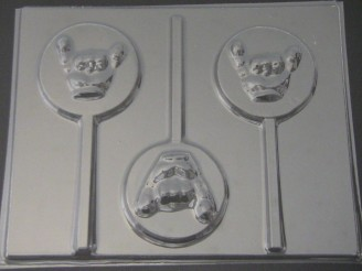 1719 Shaka Sign Chocolate Hard Candy Lollipop Mold