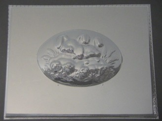 2501 Bunny Plaque Chocolate Candy Mold
