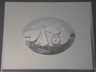 2504 Dragonfly Plaque Chocolate Candy Mold