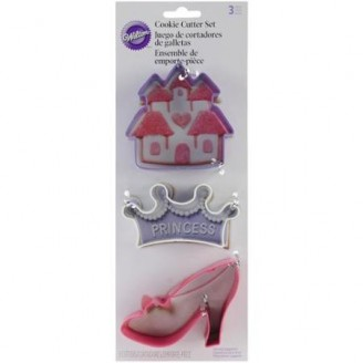 Princess Crown Shoe Castle Cookie Cutter Set Wilton
