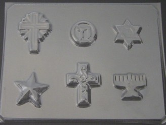 2052 Religious Assorted Chocolate Candy Mold