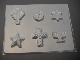 2054 Religious Assorted II Chocolate Candy Mold