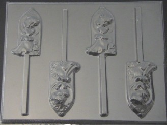 2056 Communion Girl Chocolate Candy Lollipop Mold