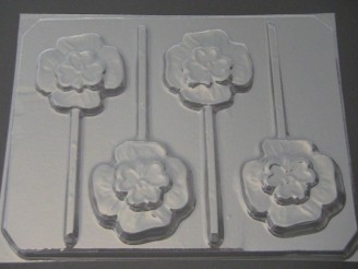1800 Double Shamrock Chocolate or Hard Candy Lollipop Mold
