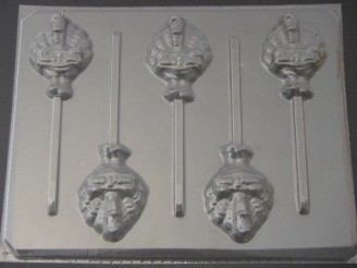 7040 Turkey Happy Thanksgiving Chocolate or Hard Candy Lollipop Mold