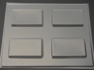 1223 Blank Business Cards Soap Chocolate Mold