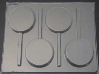 1218 2.75 Inch Round Chocolate or Hard Candy Lollipop Mold