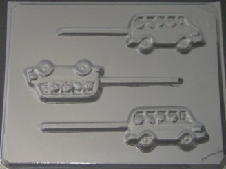 3007 School Bus Chocolate Candy Lollipop Mold