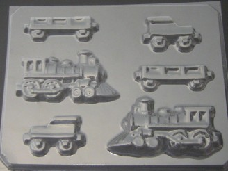 3004 Train 3D Chocolate Candy Mold