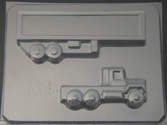 3008 Semi Truck Chocolate Candy  Mold