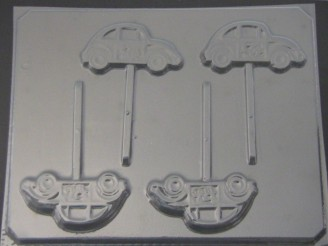 3010 VW Car Chocolate or Hard Candy Lollipop Mold