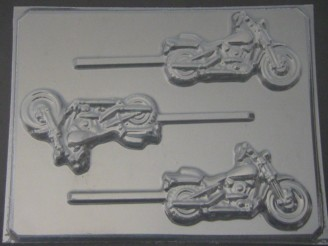 3011 Motorcycle Chocolate or Hard Candy Lollipop Mold