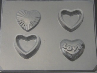 925 Heart Pour Boxes Chocolate Candy Mold